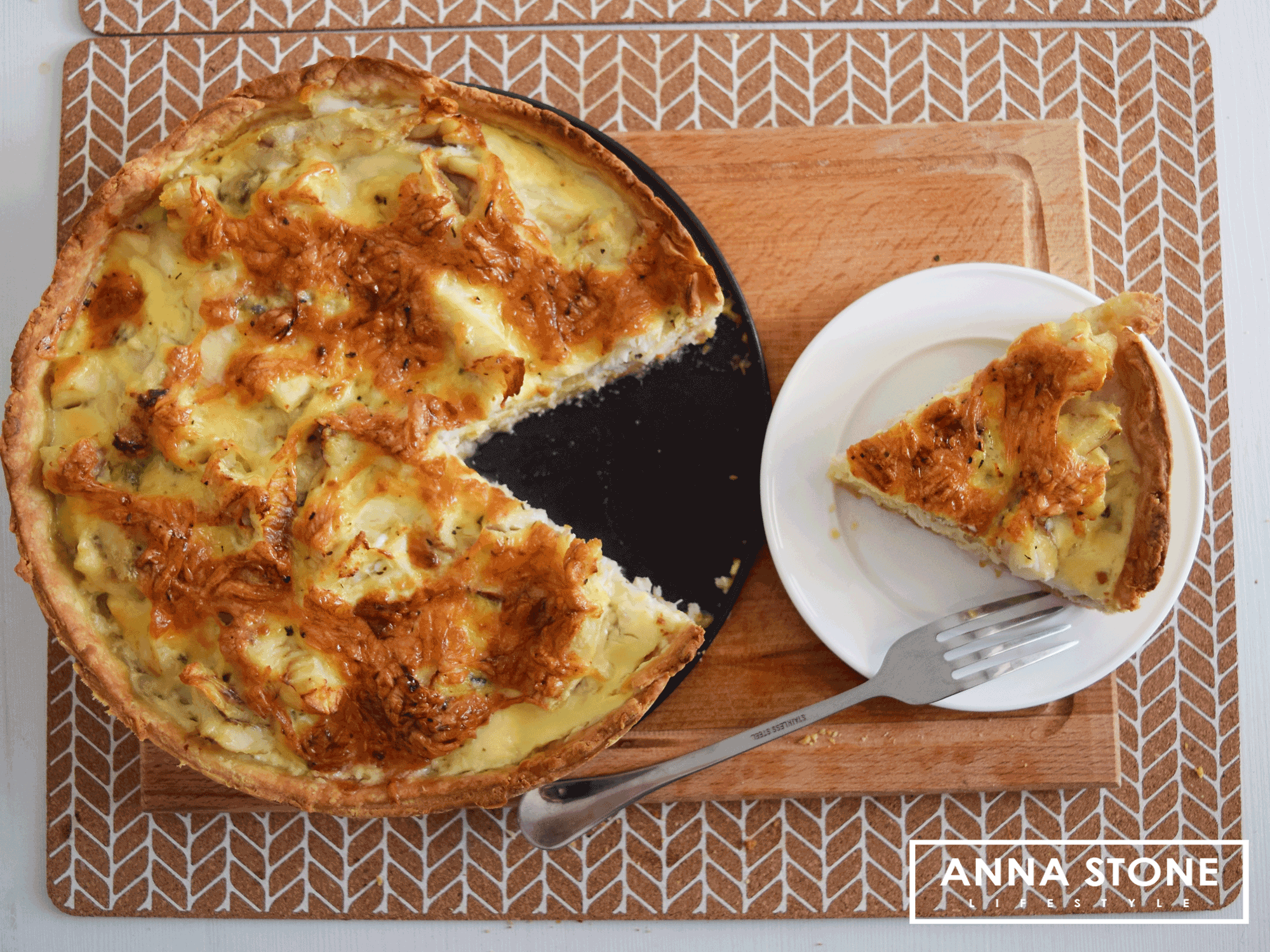 Image for Easy steps to a fish tart