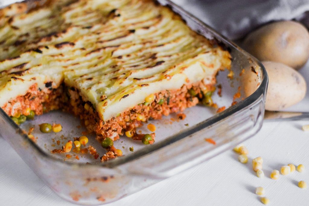 Cut shepherd's pie